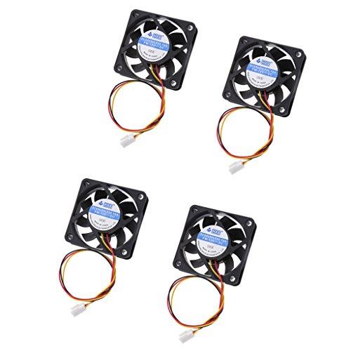 Homyl 4x 60mm Gehäuse Lüfterv Computer Kühlerlüfter rauscharm CPU-Lüfter Kühlventilator für Desktop PC Laptop 12V DC 3-polig. (4-polig-computer Desktop-fan)