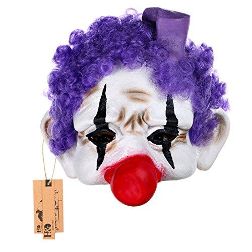 hyalinität & Dora Halloween Clown Masken, Creepy Angst oder Funny Clown Latex Maske für Kostüm Party oder (Dora Für Kostüm Halloween Erwachsene)