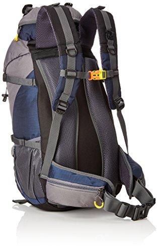 Imagen de lixada   con funda impermeable para deporte, senderismo, trekking, camping, alpinismo y escalada, 45 l + 5 l, azul alternativa