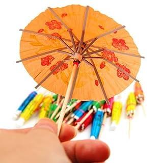 Coco Digital 24 Paper Multicolor Cocktail Umbrellas Parasols Party Sticks