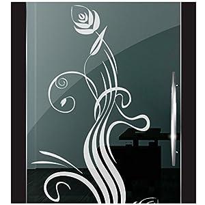 DD Dotzler Design 2111-10 Fenster Milchglas Motiv Blume modern floral Blumen Milchglasfolie Glas Aufkleber Sichtschutz