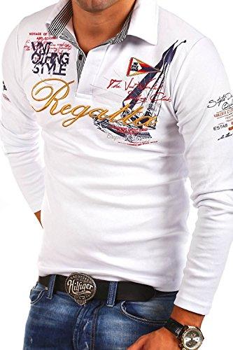 MT Styles Langarm Poloshirt REGATTA T-Shirt R-0665 [Weiß, L]