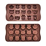 Mudder 2 Pack Animal Silicone Chocolate Candy Mould