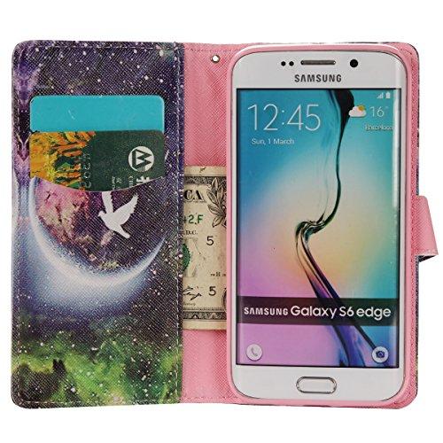 Aeeque iPhone 5/5S/5C/SE/6 plus/6S,, Samsung Galaxy S3/S4/S5/S6/S6/S6 Edge Edge J5/plus/nota 5/S7/S7/Edge G360/G530/i9060, Sony Xperia M4/Z5 mini/Z5, P8 Huawei Lite pittura, disegno elegante Custodia  Starry Sky Fantasy