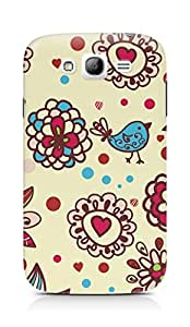 Amez designer printed 3d premium high quality back case cover for Samsung Galaxy Grand i9082 (Texture birds hearts balls surface)