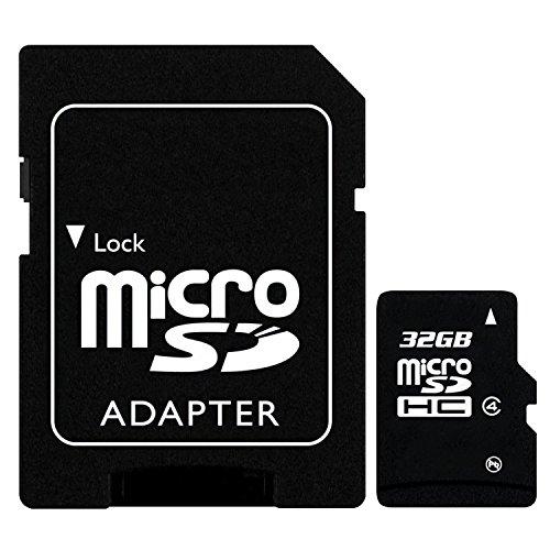 Keple 2-in-1 | 32GB 32 GB MicroSD SDHC Speicherkarte + SD Adapter kompatibel mit XIAOMI Redmi Note 4G Handy / Mobile