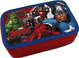 Astuccio Scuola 3 Zip Originale Marvel AVENGERS - 3D - Completo di 45 Pezzi