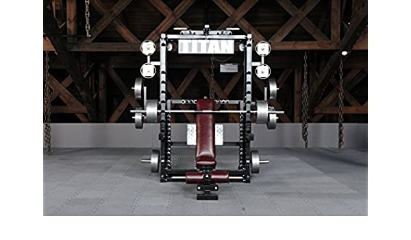 Titan Fitness Smith Machine Exercise Cage for Weight Lifting and Bodybuilding