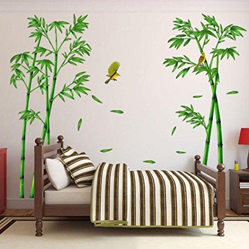 Saingace Wandaufkleber Wandtattoo Wandsticker,Tief Bamboo Forest 3D-Wand-Aufkleber Romantik...