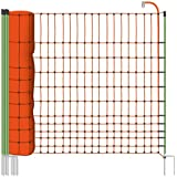 Filet volaille 50m H : 112cm orange EURONETZ 15 piquets double pointe clôture électrique