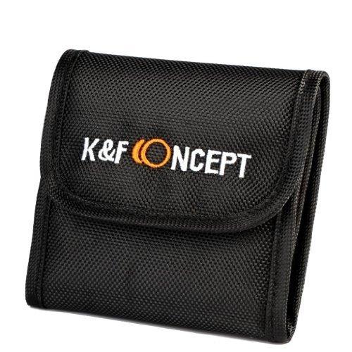 K&F Concept 3 Fächer Objektivfilter Tasche Hülle Wallet Tasche Objektiv Taschenbeutel für UV CPL 37mm-86mm Filter