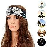 Outgeek Sport Headband Bluetooth Headband Elastic Sweat Absorbing Printing Sleeping Headband Music Headband for Gym Running