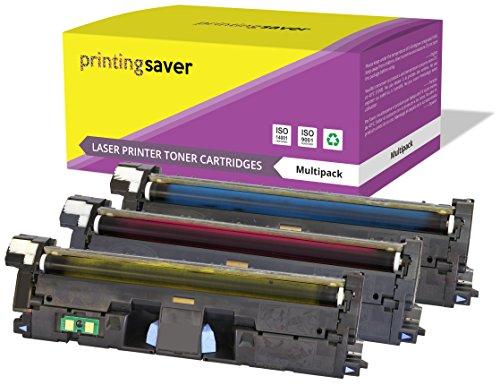 Printing Saver 3 Cyan Magenta GELB Premium Toner kompatibel zu Q3961A Q3962A Q3963A (122A) für HP Color Laserjet 2550 2550n 2550l 2550ln 2800 2820 2840 2850 2500 2500l 2500n 1500 1500L 1500lxi 1500 -
