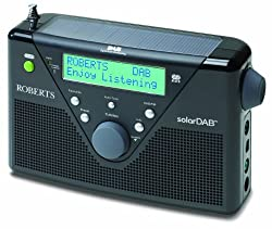 Roberts Dab Fm Digital Solar Radio - Black