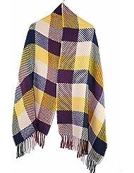 MZMZ ULTRA apretado el cuello BMBAI cálido-el extremo de la bufanda de colores múltiples bufandas tejer rejilla largos cantos toalla cálida bufanda mujer invierno, Bufandas Tejidas, Huang Grid