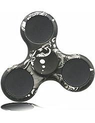 KAIHONG Fidget Hand Finger Toy Spinner Jouet Ultra Durable Roulement Haute Vitesse 3-5 Mins Spinners pour Adultes, le TDAH, l'anxiété et les Enfants Adultes Autistes (noir-1)