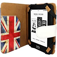 4 Corner Strap Security and Magnetic Snap Button Closure Aquarius Patriotic UK Book Style Wallet Case Cover for Kobo Arc Featuring Document Sleeve