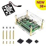 Für Raspberry Pi 3 Modell B+ Kit, Gehäuse, Lüfter, Kühlkörper