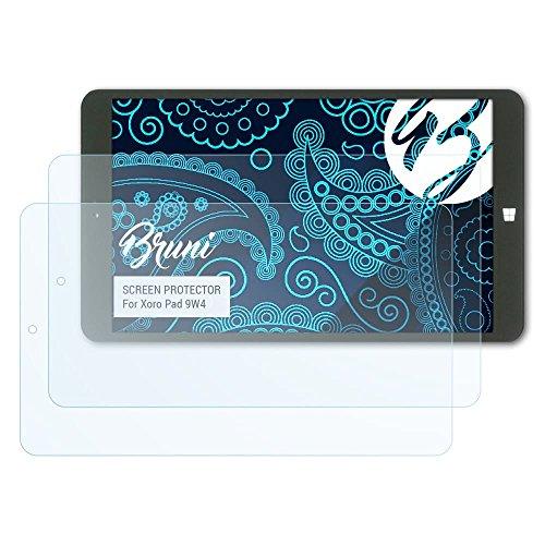 Bruni Schutzfolie für Xoro Pad 9W4 Folie, glasklare Displayschutzfolie (2X)