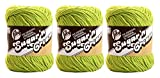 LILY SUGAR 'N CREAM - PACK OF 3 BALLS - 71G EACH BALL - HOT GREEN