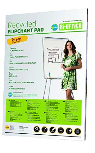 Bi-Office Earth - Bloc de Papier pour Paperboard, Euro, 50 Feuilles, 55g/m², Lot de 5