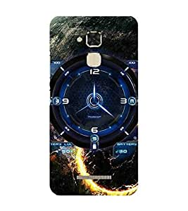 For ZenFone 3 Max (ZC520TL) space, earth, clock, compus, gratitute, burning sun Designer Printed High Quality Smooth Matte Protective Mobile Pouch Back Case Cover by BUZZWORLD