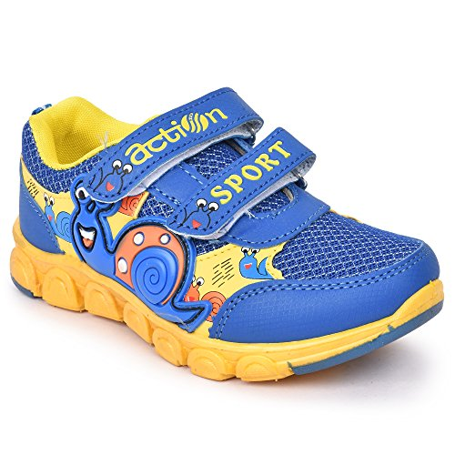 Action Shoes Dotcom Kids Sports Shoes Ks-563-Blue-Yellow  available at amazon for Rs.335