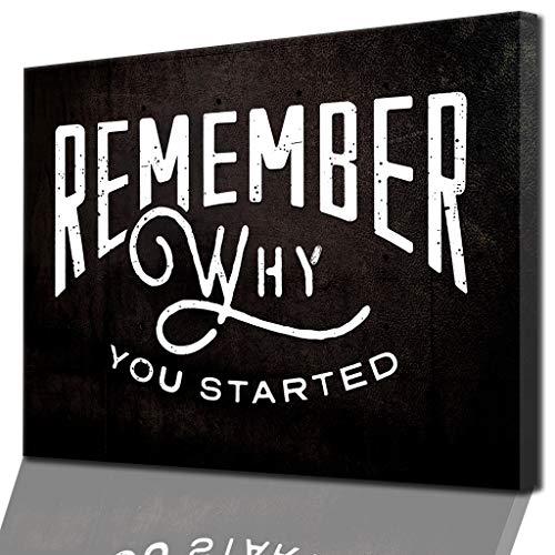 """""""Remember Why You Started"""" – Motivation im Blut und auf Leinwand – Modernes Motivations-Wandbild von DotComCanvas"""