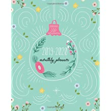 """Monthly Planner 2019-2020: Lovely Blue Green Cover for 24 Months and Weekly Calendar Schedule Organizer with Holidays 8"""" x 10"""""""