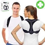 BackFitX - Schultergurt Haltungskorrektur gegen Nackenschmerzen | Rückenstütze | Geradehalter | Haltungstrainer | Rückenbandage - UNISEX