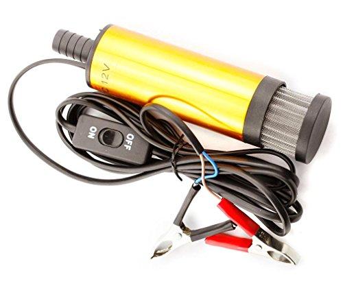 Preisvergleich Produktbild Diesel-Öl Wasser Heizöl Pumpe Transferpumpe Tauchpumpe 12V Gold Farbe