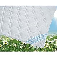 Sommerdecke Bettdecke Wildseide-Baumwolle 155x200 leicht, Füllung 60% Seide und 40% Baumwolle