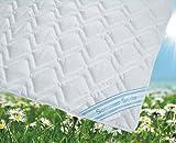 Sommerdecke Bettdecke Wildseide-Baumwolle 155x220 leicht, Füllung 60% Seide und 40% Baumwolle