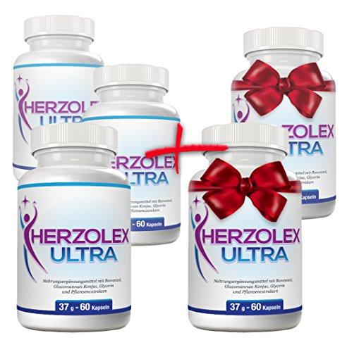 Herzolex Ultra – Diätpille für effektiven Gewichtsverlust | Kaufe 3 Flaschen und erhalte 2 gratis dazu