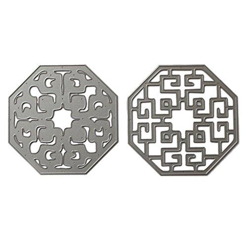 en Kreativkarten Making und Papercrafting f¨¹r DIY Carbon Steel Silber Weihnachtsfest Geschenk ()