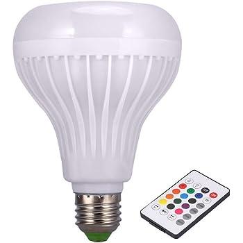 Crewell - Altavoz inalámbrico Bluetooth con Bombilla LED para Reproductor de Música con Mando a Distancia