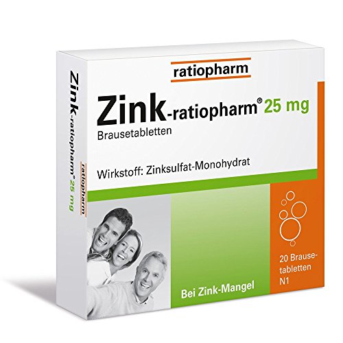 Zink Brausetabletten (Zink-ratiopharm 25 mg Brausetabletten, 20 St.)