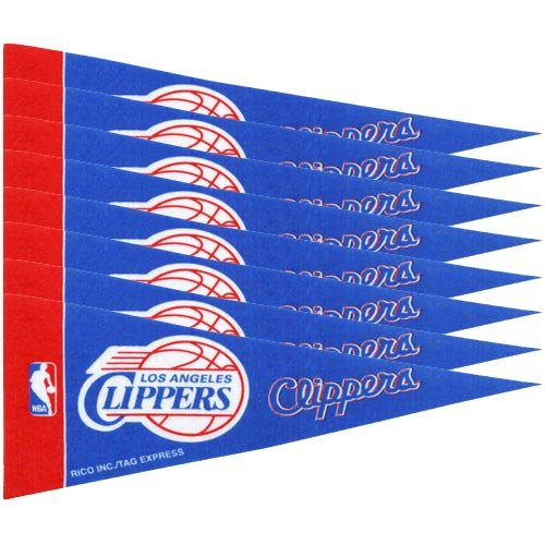 Rico NBA Nagelknipser 8 PC Mini Pennant Pack Sports Fan Home Decor, Multicolor, One Size - Home Decor Pack