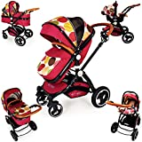 i-Safe System - C&M Trio Travel System Pram & Luxury Stroller 3 in 1 Complete With Car Seat