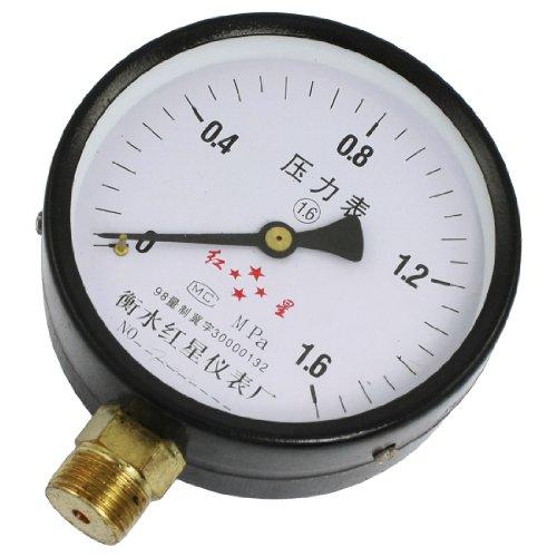 Horizontale Luft (100mm horizontal Mount 1/5,1cm Gewinde Wasser Luft Manometer 0–1.6MPa)