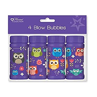 ALANNAHS ACCESSORIES Pack Of 4 Woodland Bubbles Stocking Party Filler Bag