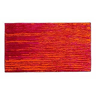 SCHÖNER WOHNEN-Kollektion, Mauritius, Badteppich, Badematte, Badvorleger, Design Streifen - rot, Oeko-Tex 100 zertifiziert, 70 x 120 cm