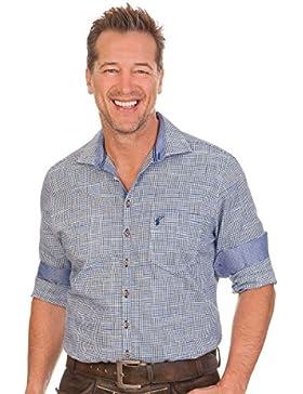 Trachtenhemd mit langem Arm - LIAN - blau