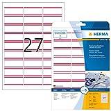 Herma 4512 Namensetiketten ablösbar 540 Stück auf 20 Blatt DIN
