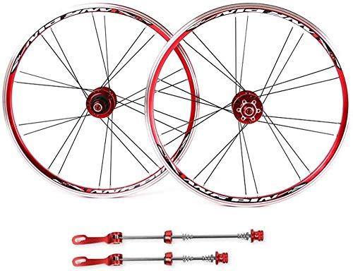 LIMQ Rennrad Laufräder Laufradsatz 20 Zoll Doppelwand Alufelgen Scheibenbremse Schnellspanner Für 7 8 9 10s Freilauf,B