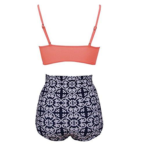 Sexy Bademode High Waist Badeshort Push-Up Badeanzug Big Size Cups Bikini mit hoher Taille Stil 2