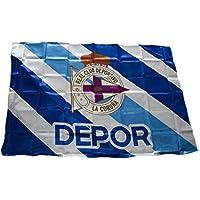 Real Club Deportivo de La Coruña Baddep Bandera, Blanco/Azul, Talla Única