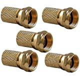HD-Line Con F OR joint Pack de 5 Connecteurs F avec Joint coaxial 6,8 mm Jaune