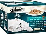 Purina Gourmet Perle Wet Cat Food Mini Fillets in Gravy, 12 x 85 g - Ocean Delicacies (Pack of 4)
