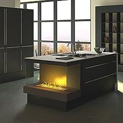 Sonderanfertigung 15: bloque de cocina de bioetanol/eléctrico Opti de Myst empotrable